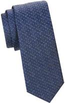 Saks Fifth Avenue Printed Silk & Wool Tie