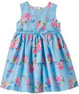Blueberi Boulevard Baby Girl Blueberi Boulevard Lace Cut-Out Back Dress