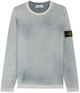 Stone Island Grey Faded Cotton Jumper