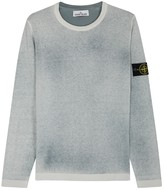 Stone Island Grey Spray-effect Cotton Jumper