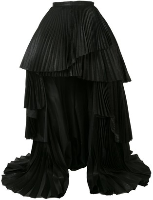 Isabel Sanchis Pleated Asymmetric Skirt