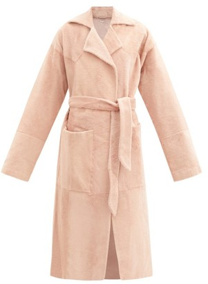 Dodo Bar Or Collie Shearling Wrap Coat - Light Pink
