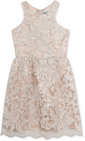 Rare Editions Girls' Sequined Lace Party Dress