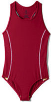 Lands' End Little Girls Tank Swimsuit-Red