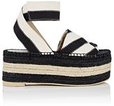 Stella McCartney WOMEN'S GROSGRAIN PLATFORM ESPADRILLE SANDALS