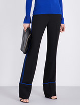 Diane von Furstenberg Striped wide-leg woven trousers