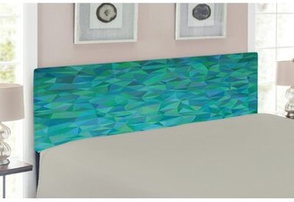 East Urban Home Mosaic Design and Geometrical Modern Art Upholstered Panel Headboard Size: Twin