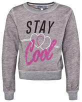 Wildfox Couture Pink Stay Cool Burnout Sweatshirt