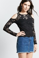 Forever 21 Open-Shoulder Lace Top