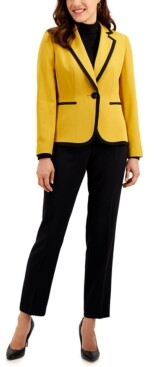 Le Suit Two-Tone Pants Suit