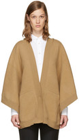 Burberry Tan Hooded Carla Poncho