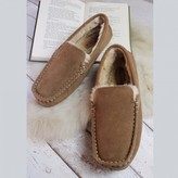 Graham and Green Men's Chestnut Suede Moccasins