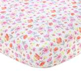 Carter's Floral Sateen Fitted Crib Sheet in Pink