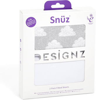 Snüz Snuz Bedside Crib 2 Pack Fitted Sheets