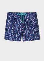 Paul Smith Men's Navy 'Fish' Print Swim Shorts