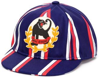 Mini Rodini Panther Badge Striped Cap