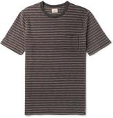 Faherty Striped Slub Cotton-jersey T-shirt - Brown