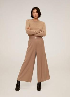 MANGO Flowy palazzo pants brown - L - Women