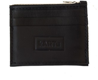 Kartu Studio Natural Leather Card/Coin Case ''Thyme'' Black