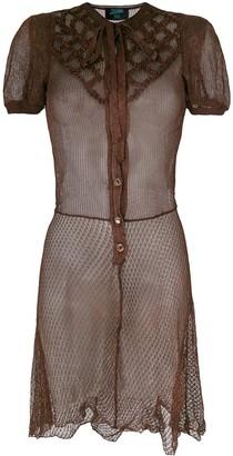 Jean Paul Gaultier Pre Owned Cross Stitch Detail Dress