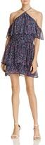 Paige Darya Floral Silk Ruffle Dress
