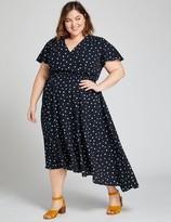 Lane Bryant Flutter-Sleeve Fit & Flare Dress