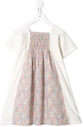 Bonpoint floral-print contrast dress