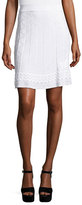 M Missoni Zigzag-Knit A-line Skirt, White
