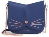 Ted Baker Kittii Cat Leather Crossbody Bag - Blue