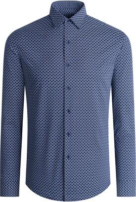 Bugatchi OoohCotton(R) Regular Fit Tech Knit Button-Up Shirt