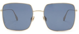 Christian Dior Diorstellaire1 Square Metal Sunglasses - Black