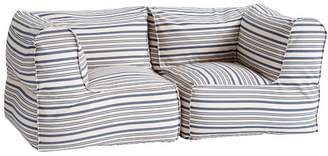 Pottery Barn Teen Prescott Loveseat Set (2 Corners), Antique Blue Stripe