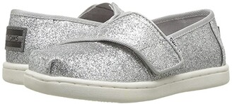 Toms Kids Alpargata (Infant/Toddler/Little Kid) (Silver Iridescent Glimmer) Girl's Shoes