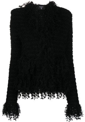 Balmain Fringed Stripe Jacket
