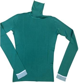 Balenciaga Green Silk Knitwear