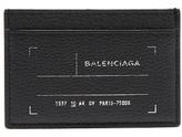Balenciaga Tag-print leather cardholder