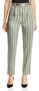 Giorgio Armani Emporio Cropped Metallic Striped Pants