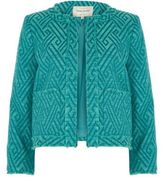 River Island Womens Green zig zag fringe trophy jacket