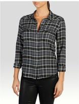 Paige Mya Shirt - Dark Slate Crystal Embellishment