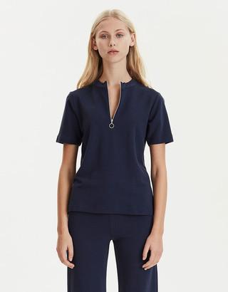 Libertine-Libertine Evening Blue Viscose O Neck Week Sweater - XS - Blue