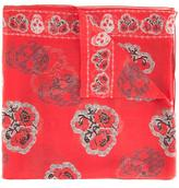 Alexander McQueen poppy and skull print scarf - women - Silk - One Size