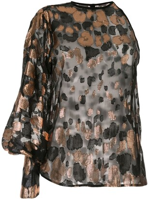 Petar Petrov Brady one-shoulder jacquard blouse