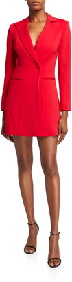 Jay Godfrey Ace One-Button Long-Sleeve Blazer Mini Dress
