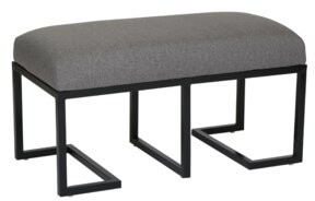 PTM Images Ashley Upholstered Bench Upholstery Color: Gray