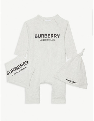 Burberry Logo cotton baby gift set 1-6 months