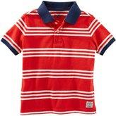 Osh Kosh Knit Polo Henley (Toddler/Kid) - Stripe - 4