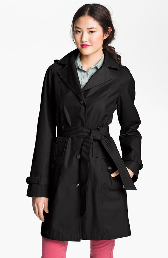 Gallery Raglan Sleeve Trench Coat