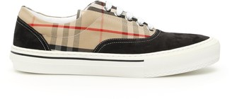Burberry Vintage Check Lace Up Sneakers