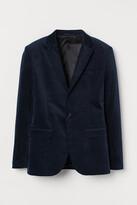 H&M Skinny Fit Velvet Blazer