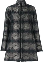 Etro printed flared coat - women - Polyester - 46